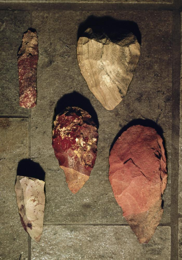 Handaxes from the Middle Palaeolithic era, circa 70,000 BC.