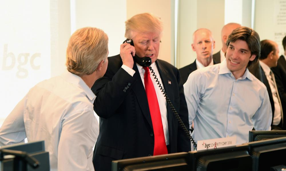 Trump attends Annual Charity Day hosted by Cantor Fitzgerald, BGC and GFI at BGC Partners, INC on September 12, 2016 in New York City.