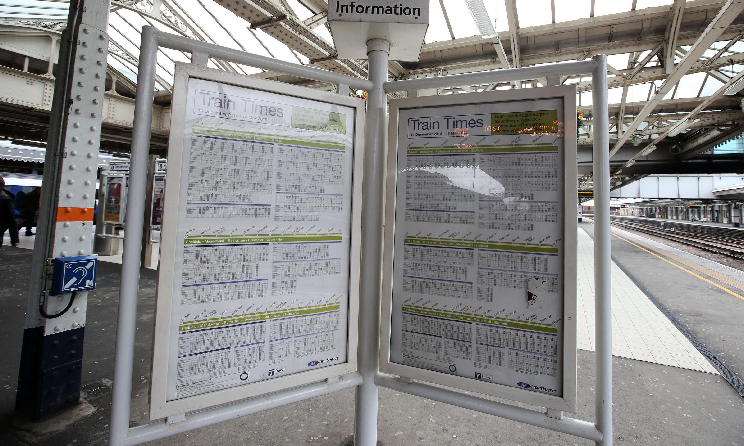 Staff shortages hit rail services as new timetable takes effect