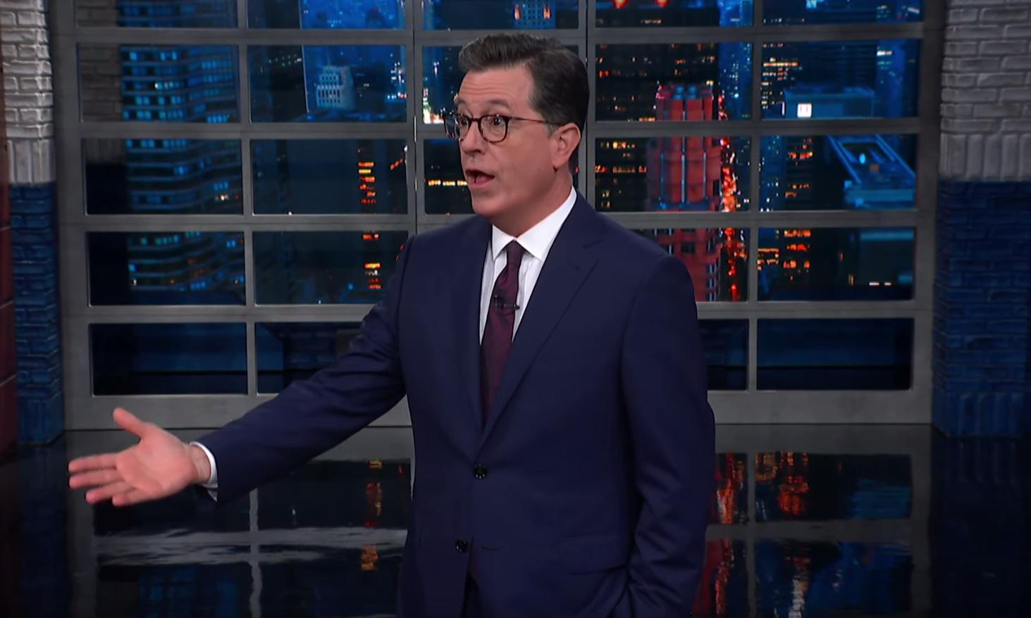 Stephen Colbert on Trump: 'An out-of-control toddler'
