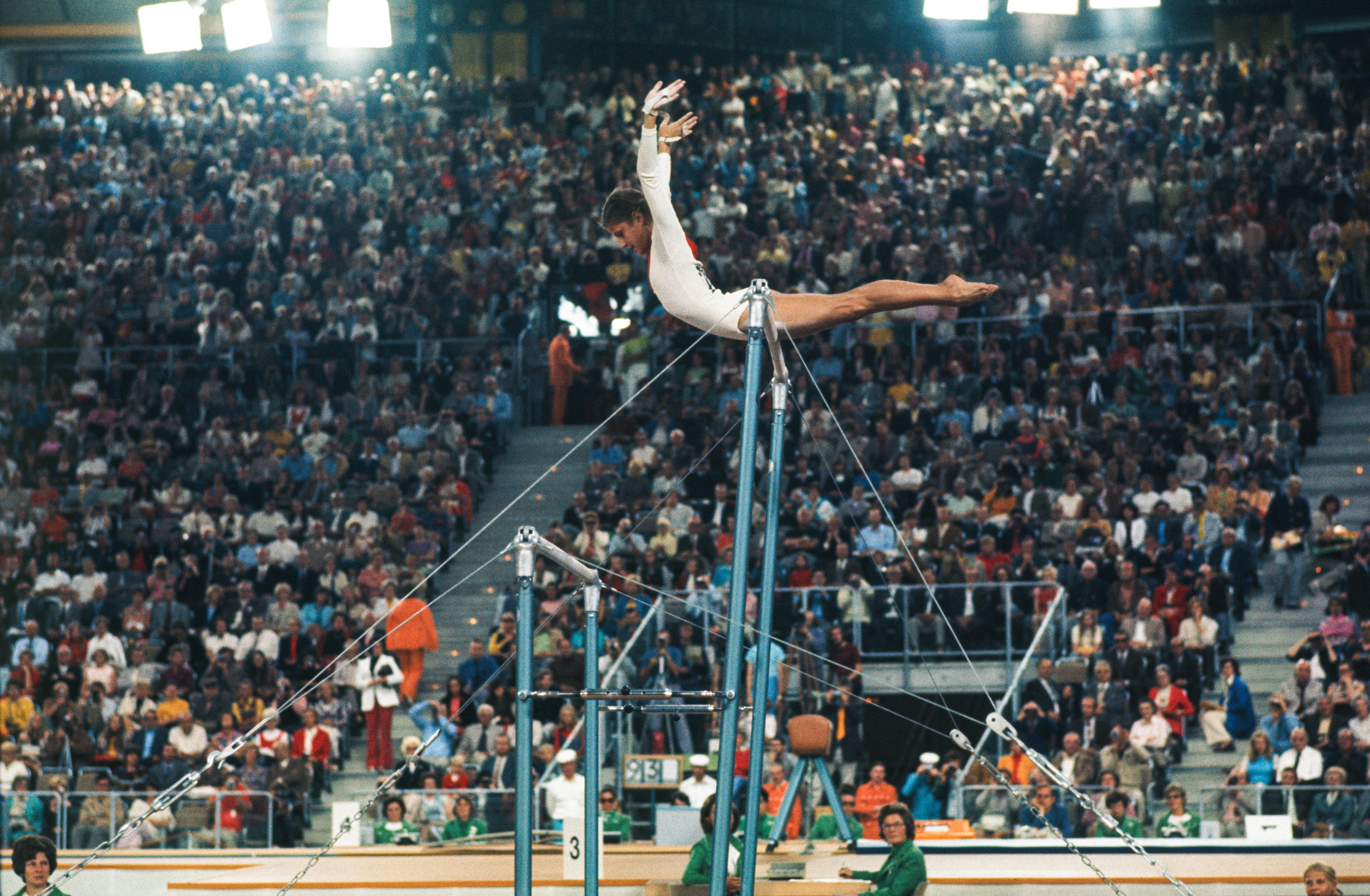 Buy a classic sport photograph: Olga Korbut seeks perfection