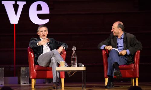 Steve Coogan in conversation with Armando Iannucci at Central Hall, Westminster