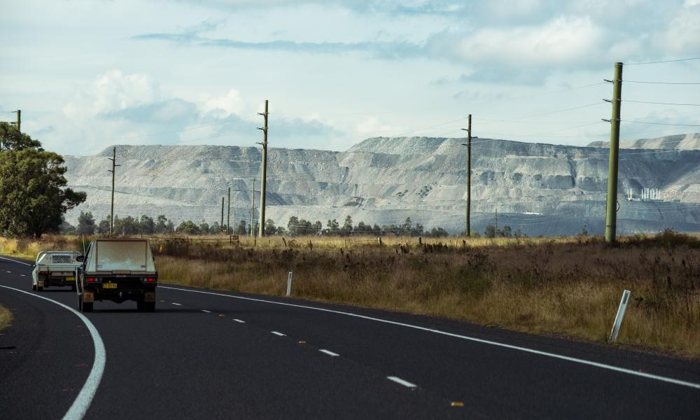Mount Arthur coalmine on the outskirts of Muswellbrook.