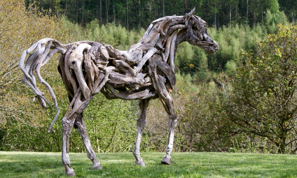 The Eden Horse (2002), by Heather Jansch, which was voted visitors' favourite work at the Eden Project