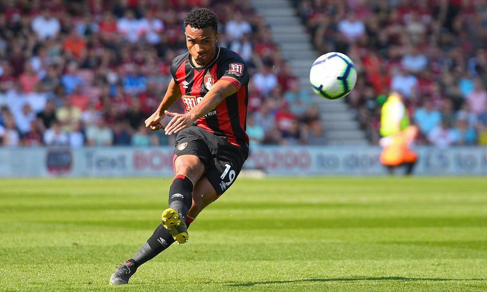 Junior Stanislas of Bournemouth attempts a free kick.