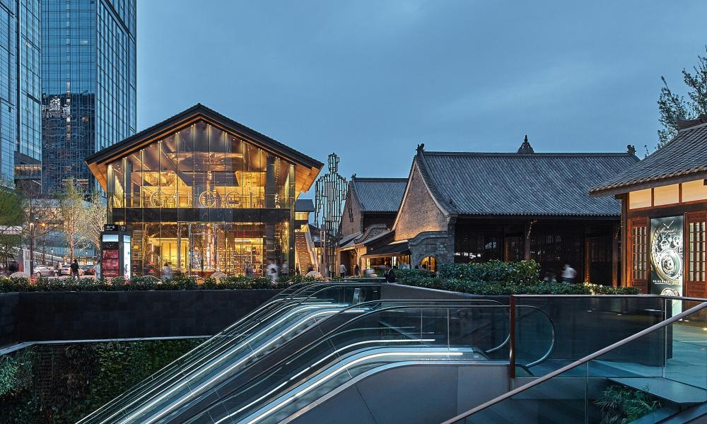 'Modern village': the outdoor retail space in Chengdu, China