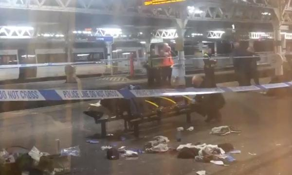Teenager shot in fight on London tube