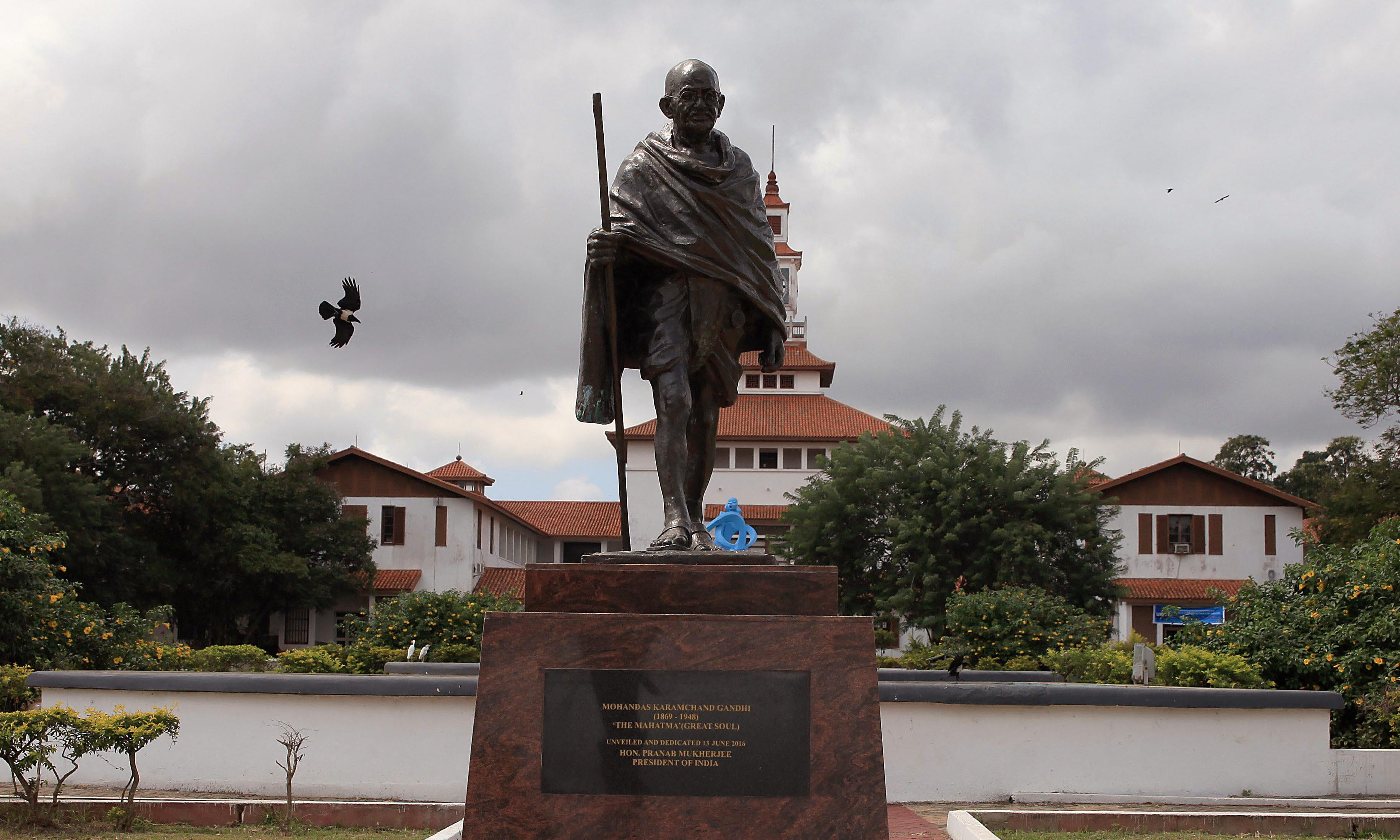 'Racist' Gandhi statue banished from Ghana university campus