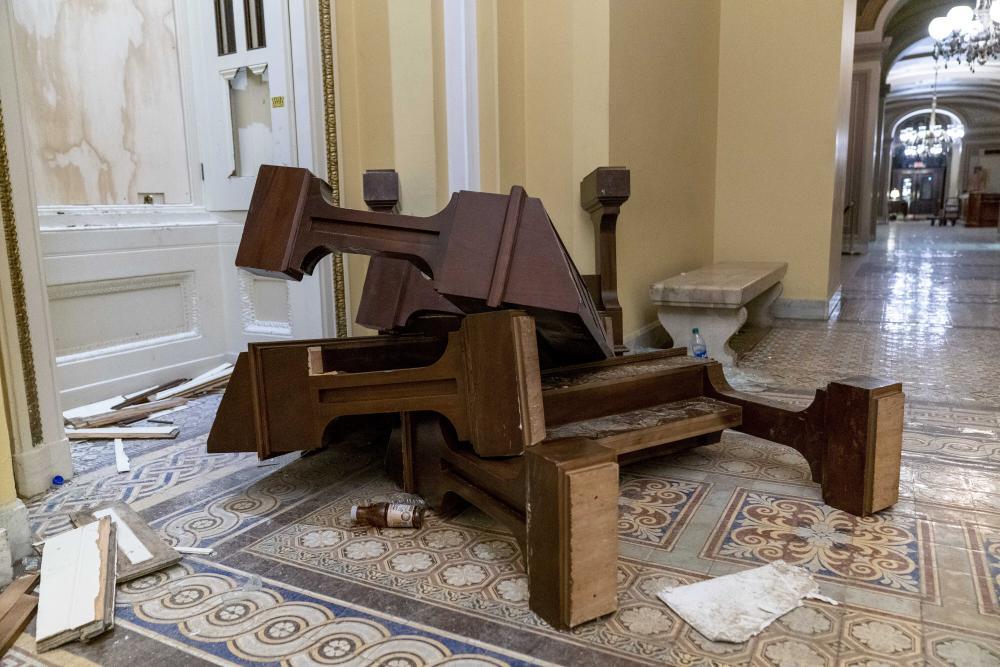 damage inside capitol