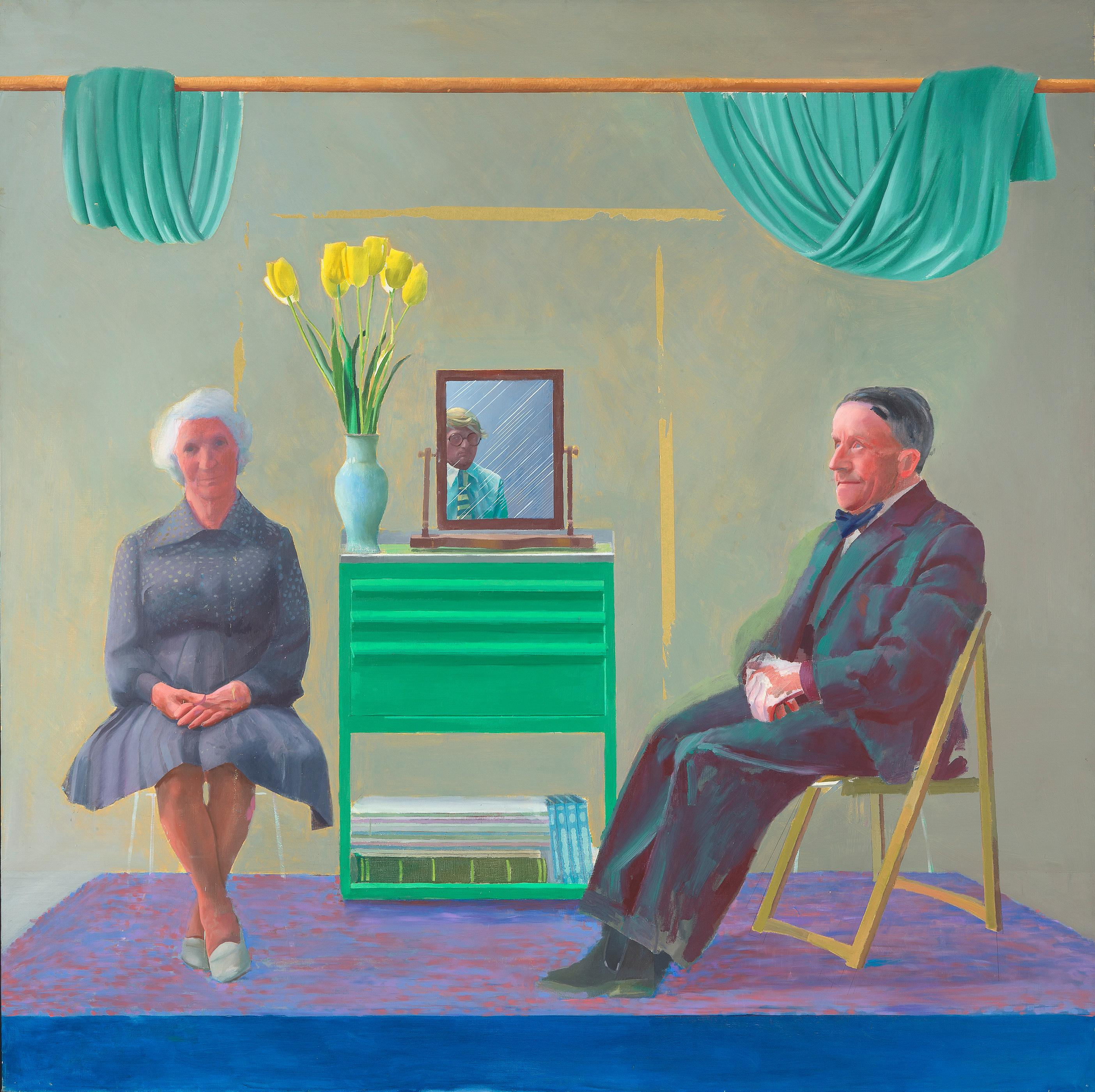 Hockney unveils the portrait that caused a family rift