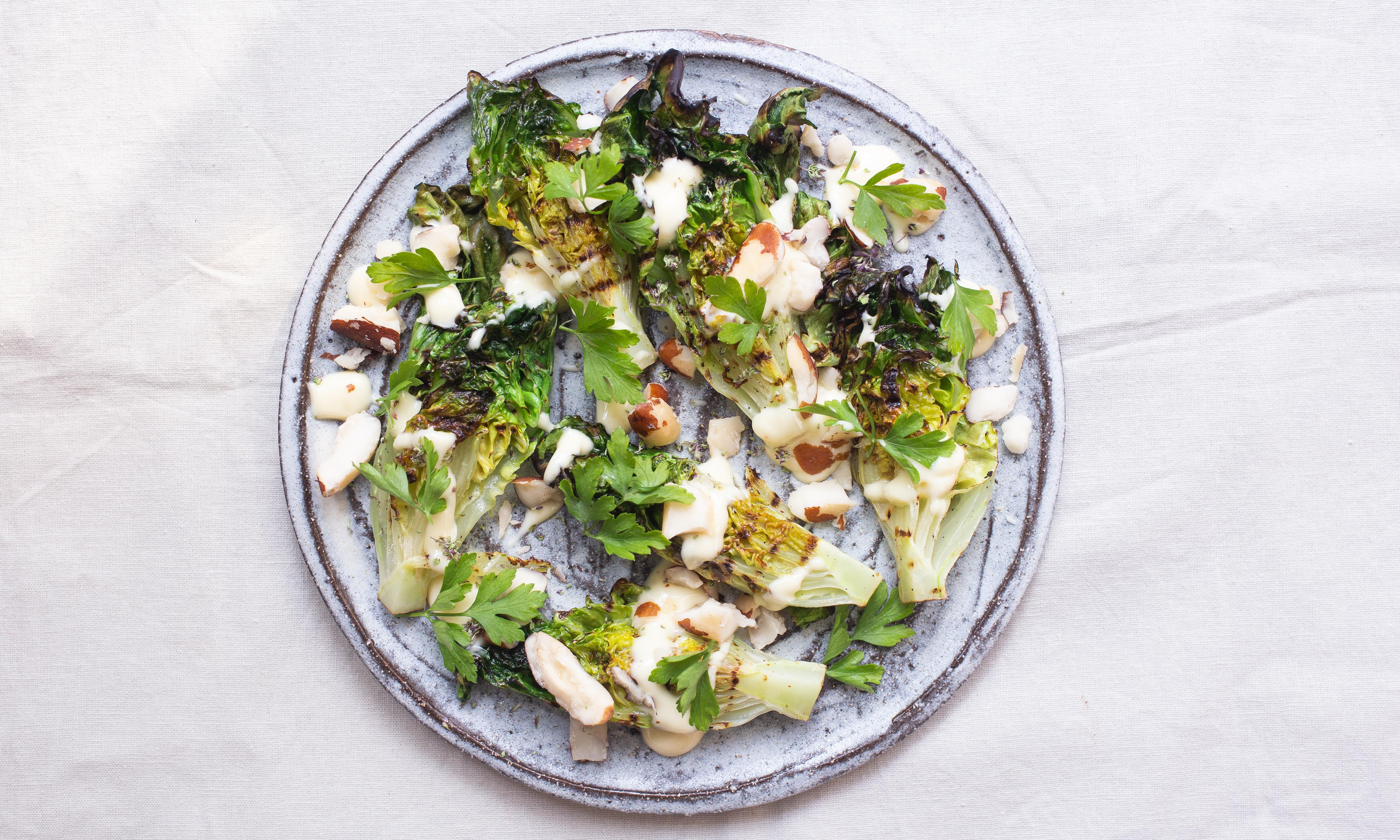 Don't bin limp lettuce – barbecue it instead
