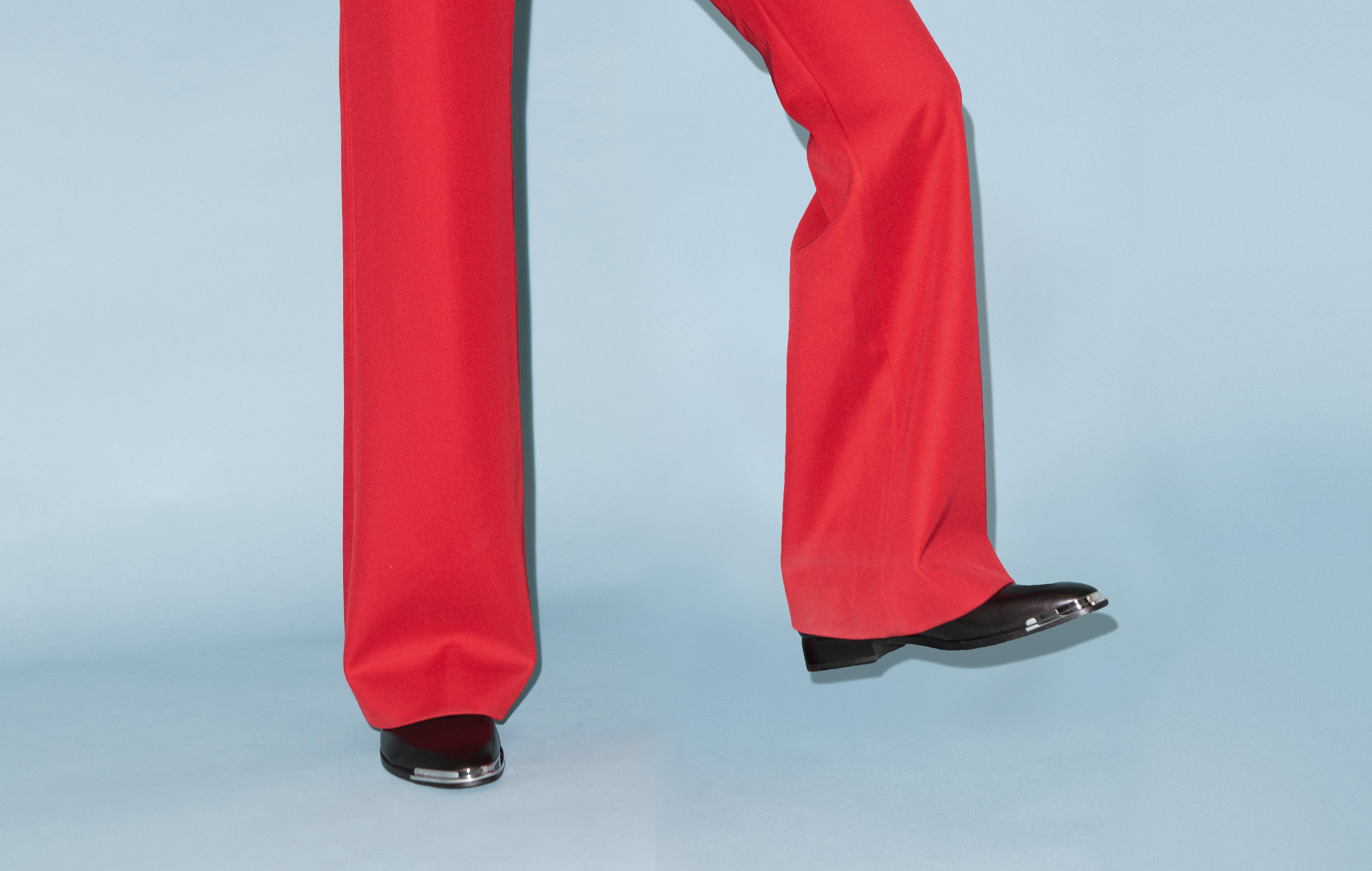Wide boy: what the return of flared trousers means for men