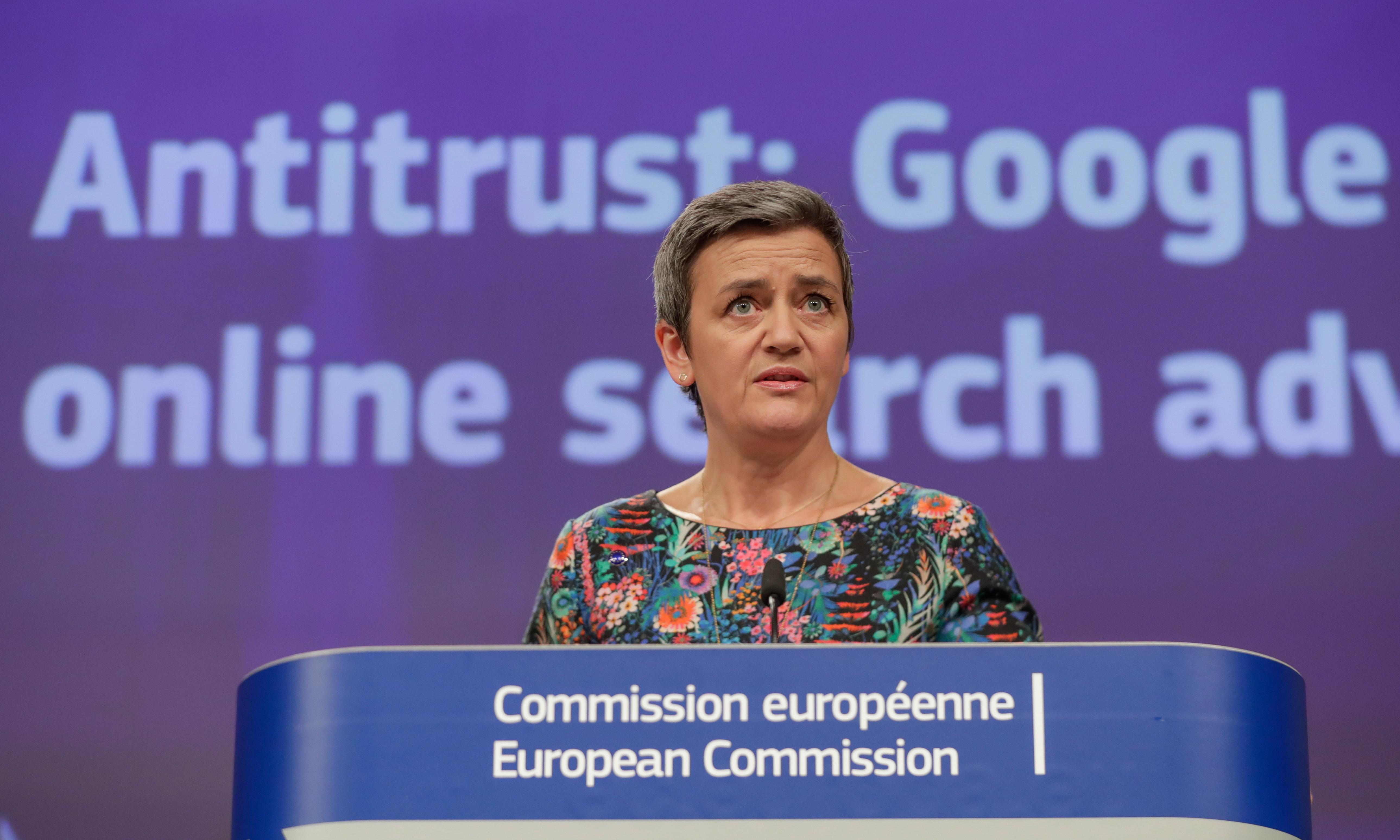 Google fined €1.49bn by EU for advertising violations