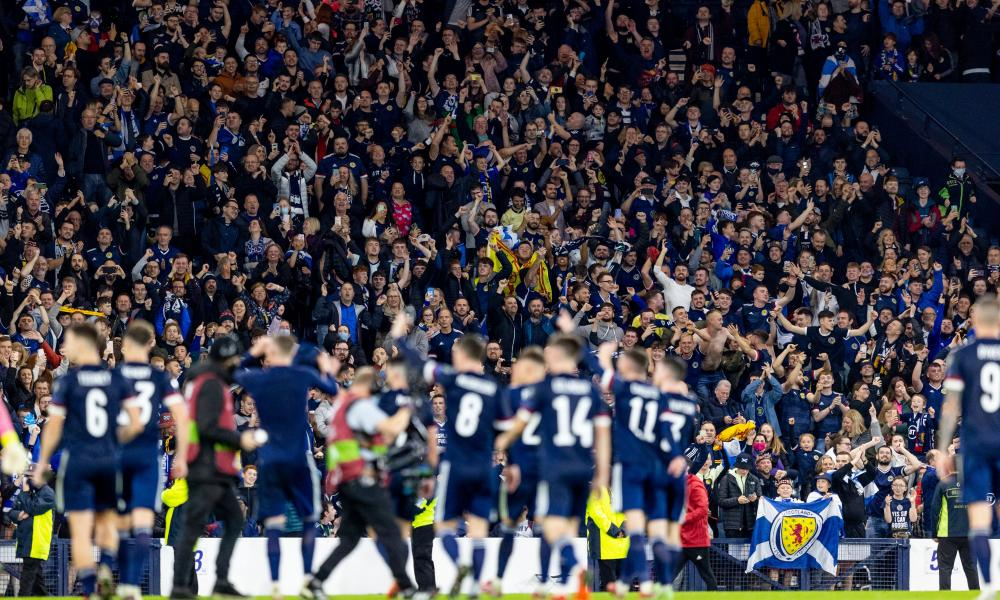 Scotland were playing in a full Hampden Park for the first time under Steve Clarke and the players thanked the fans after beating Israel.