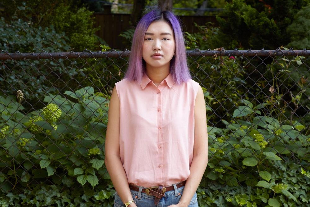 Qichen Zhang outside her home in Brooklyn. She quit working for Google in 2014.
