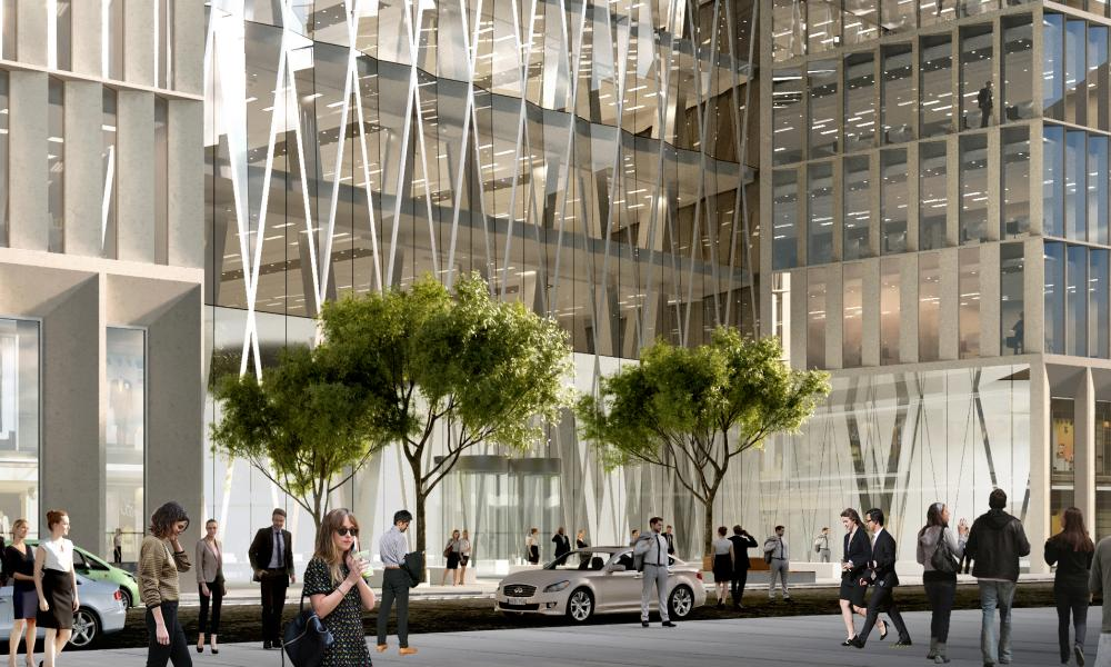 An artist's impression of The Diamond at 100 Leadenhall Street