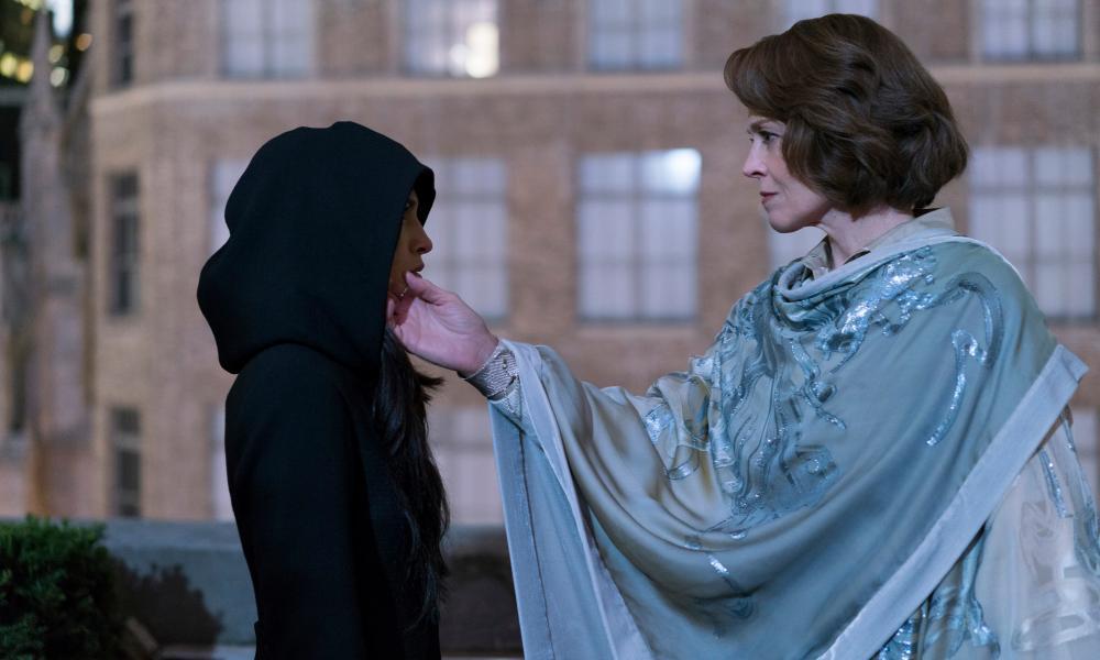 Sigourney Weaver plays the show's villain