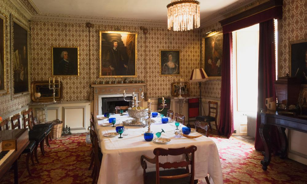 The Dining Room in Traquair House - Innerleithen