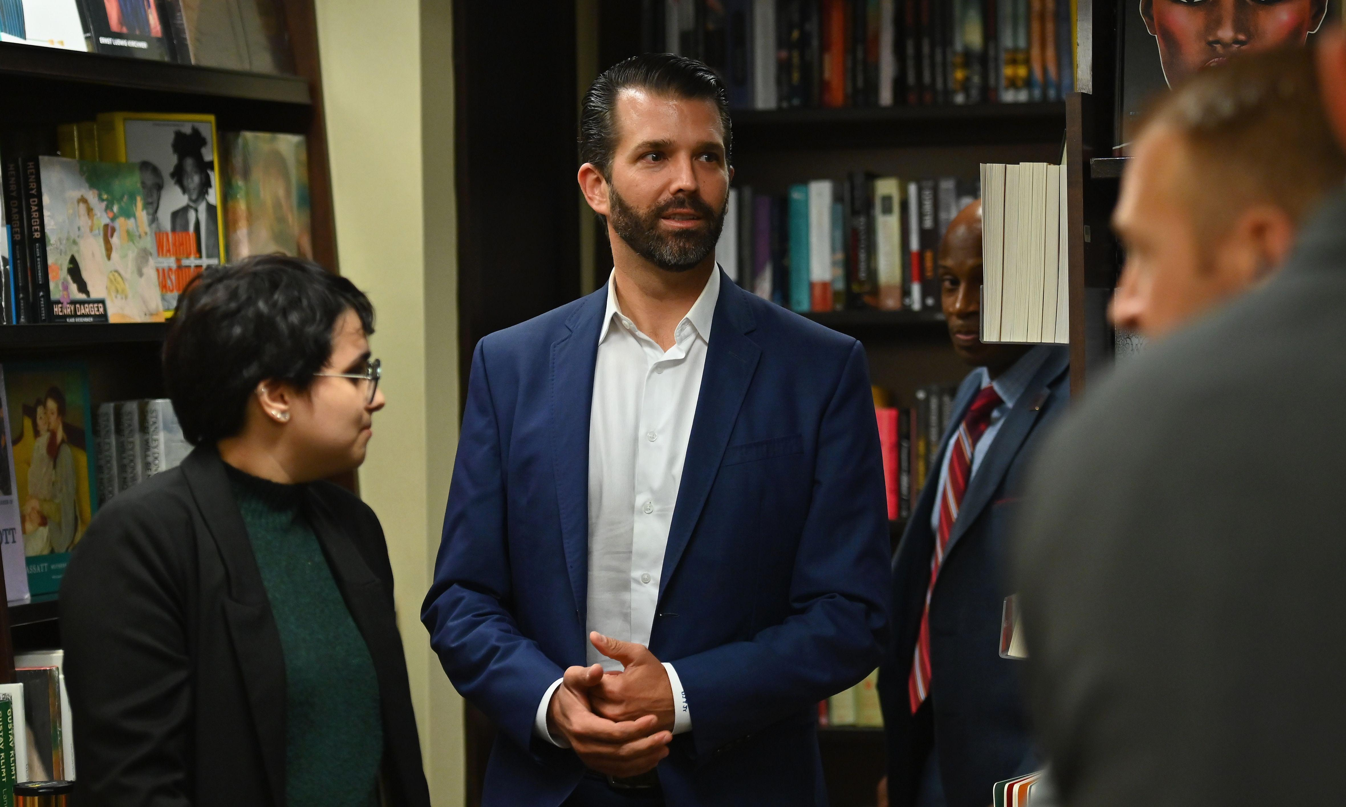 Donald Trump Jr's disastrous book launch may seem funny – but there's a very dark side to the booing