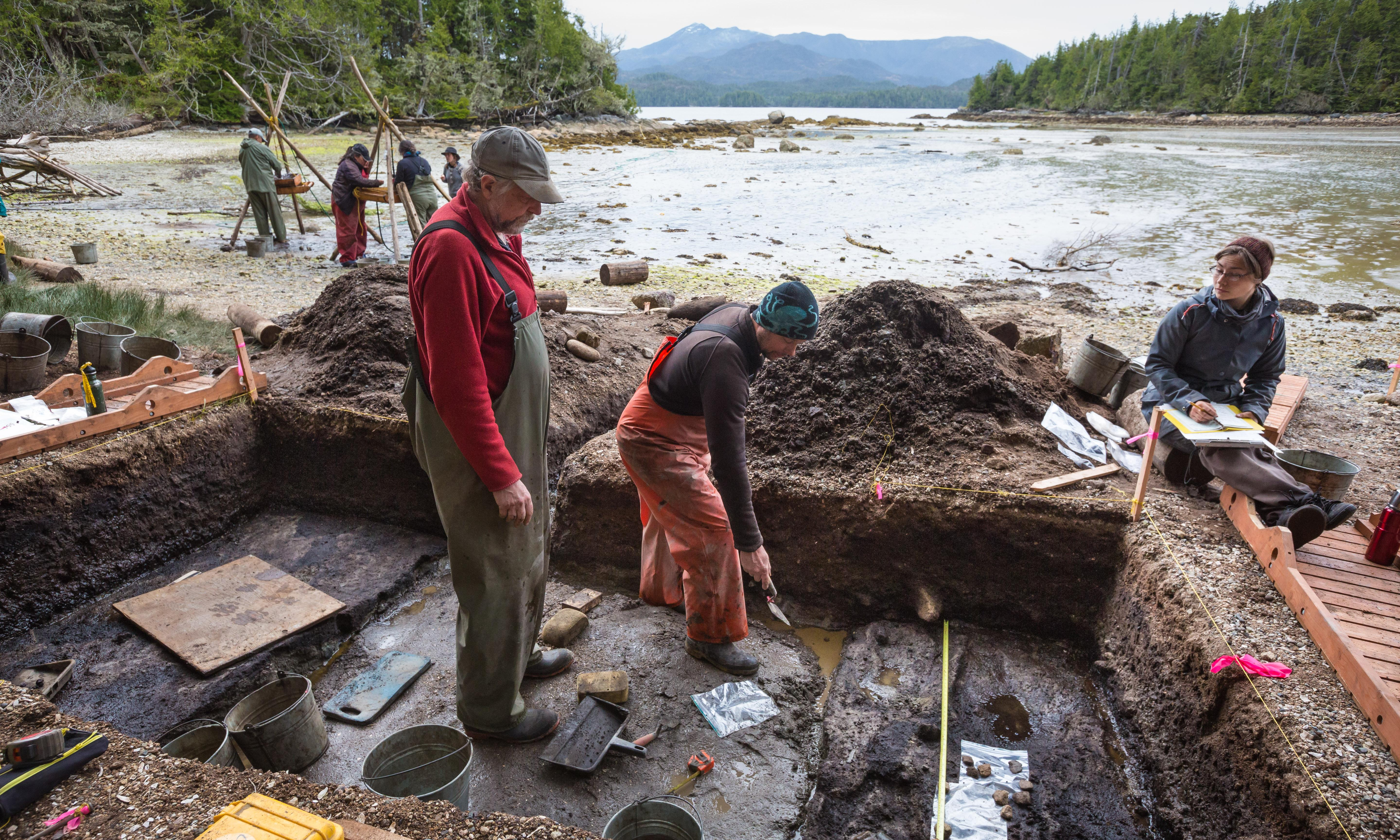 Prehistoric human footprints unearthed on Canada shoreline