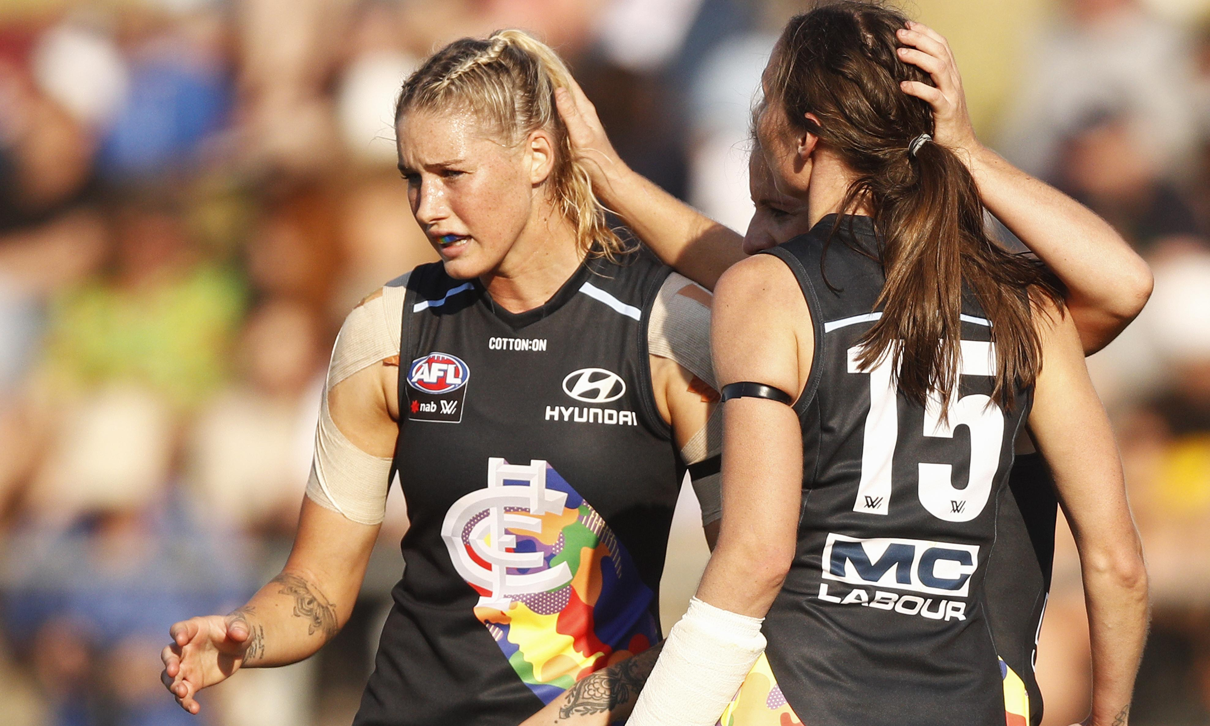 Tayla Harris: online comments amount to 'sexual abuse', says AFLW player