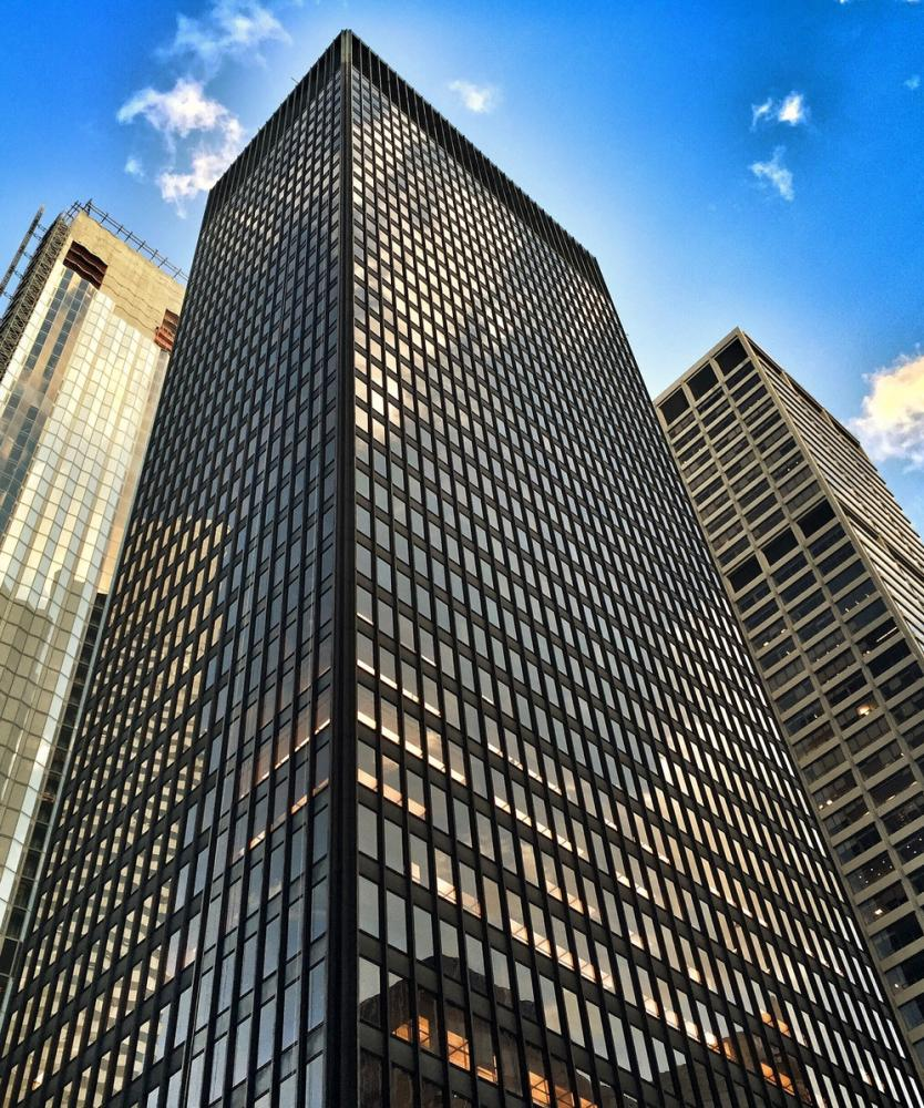 The Seagram Building.