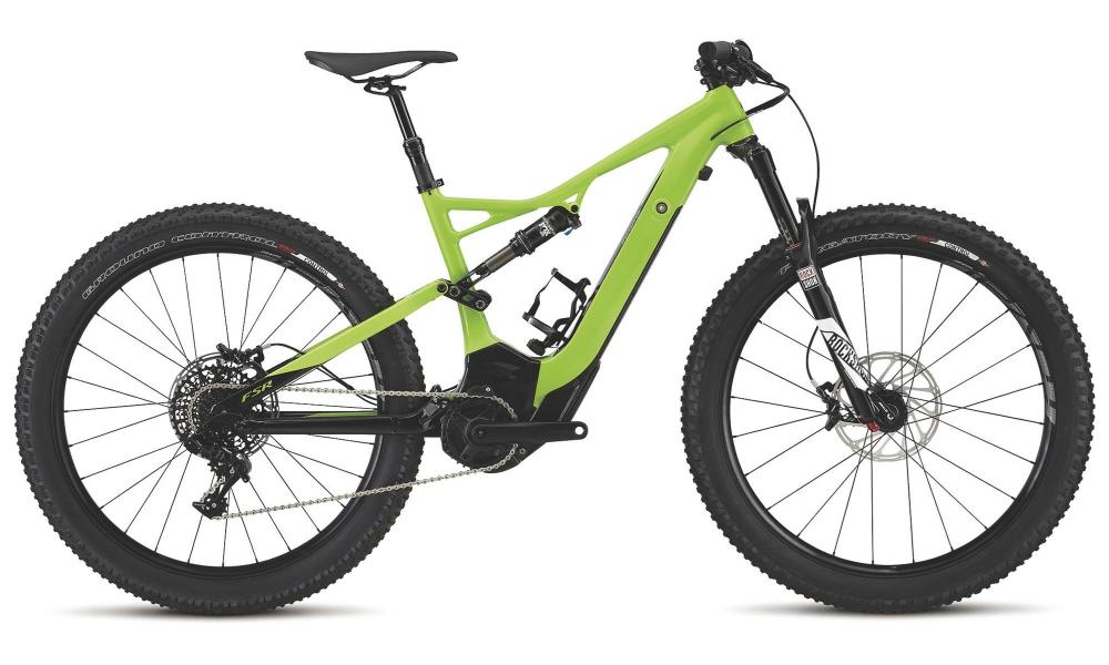 Green machine: Specialized Turbo MTB with full suspension
