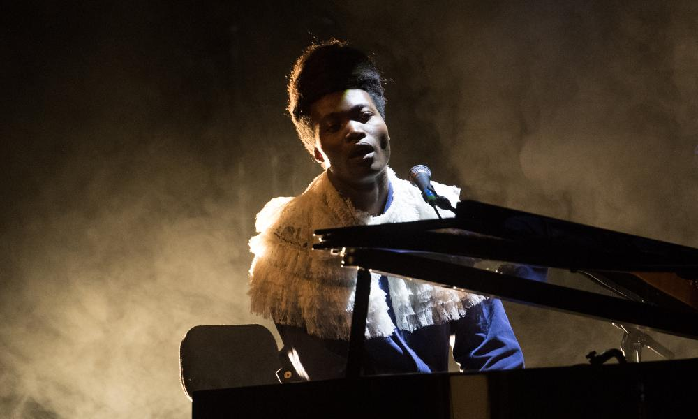 Sweeping grace and gravitas: Benjamin Clementine performing in Edinburgh.