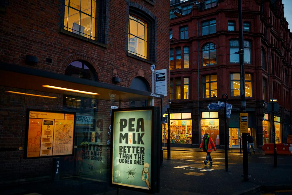 Manchester's Northern Quarter during the third national coronavirus lockdown.