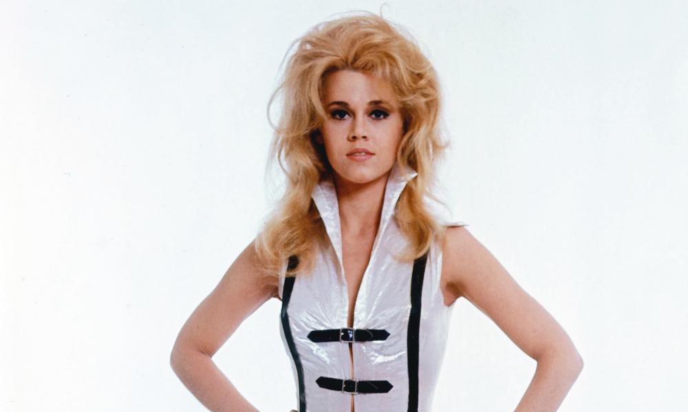 Jane Fonda in publicity shot for 1968 film Barbarella