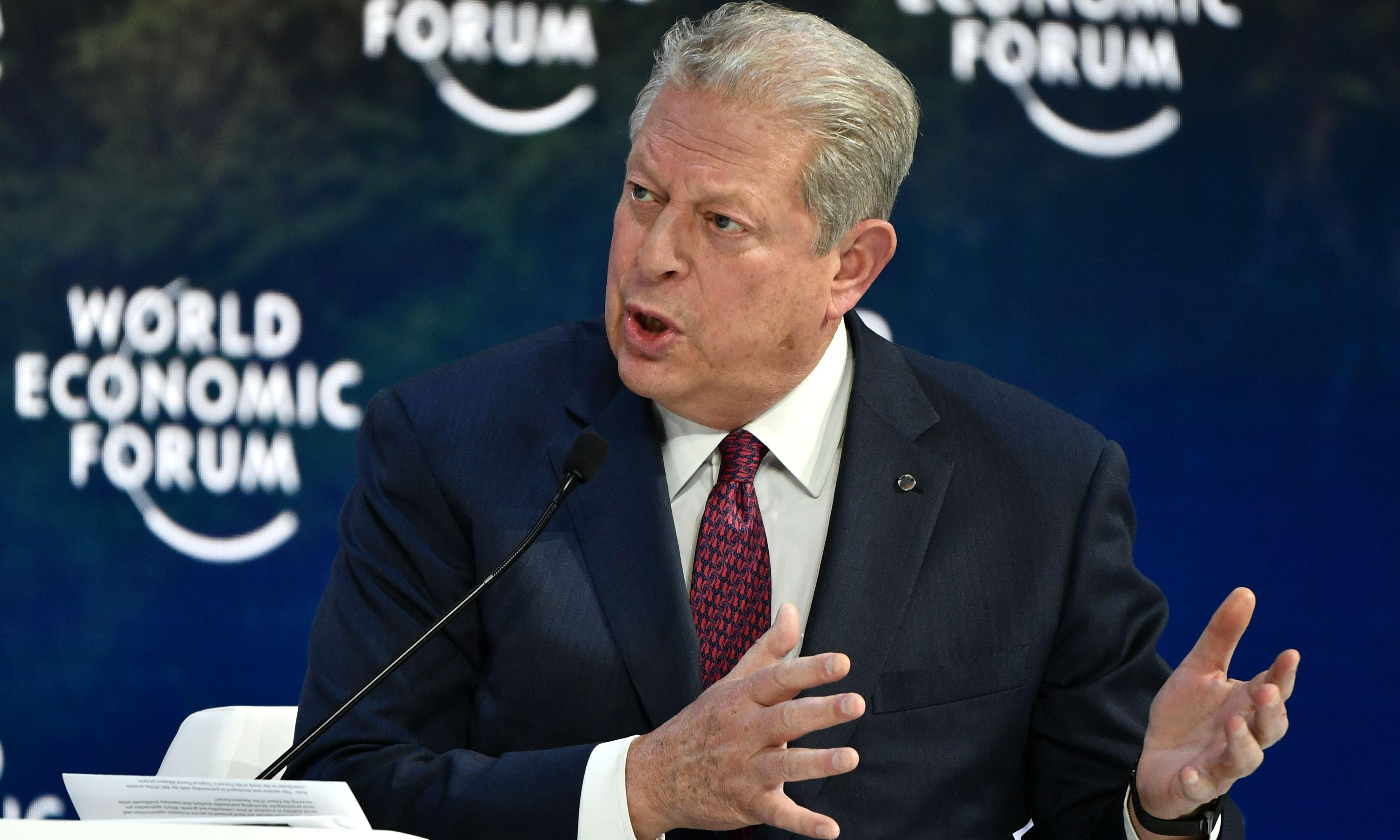 'This is Dunkirk. This is 9/11': Al Gore implores Davos to tackle climate crisis