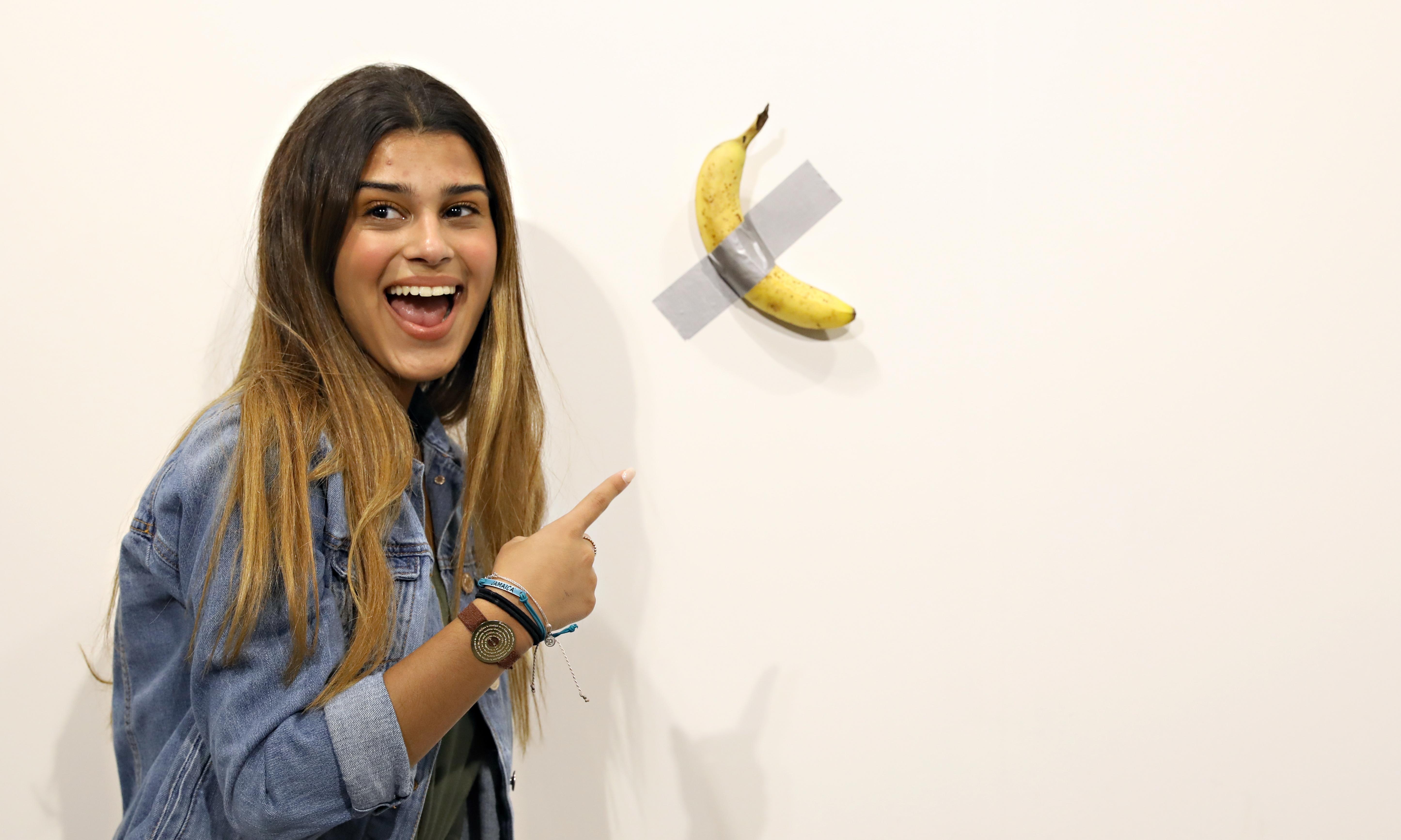 Banana artwork that fetched $120,000 is eaten by 'hungry' artist