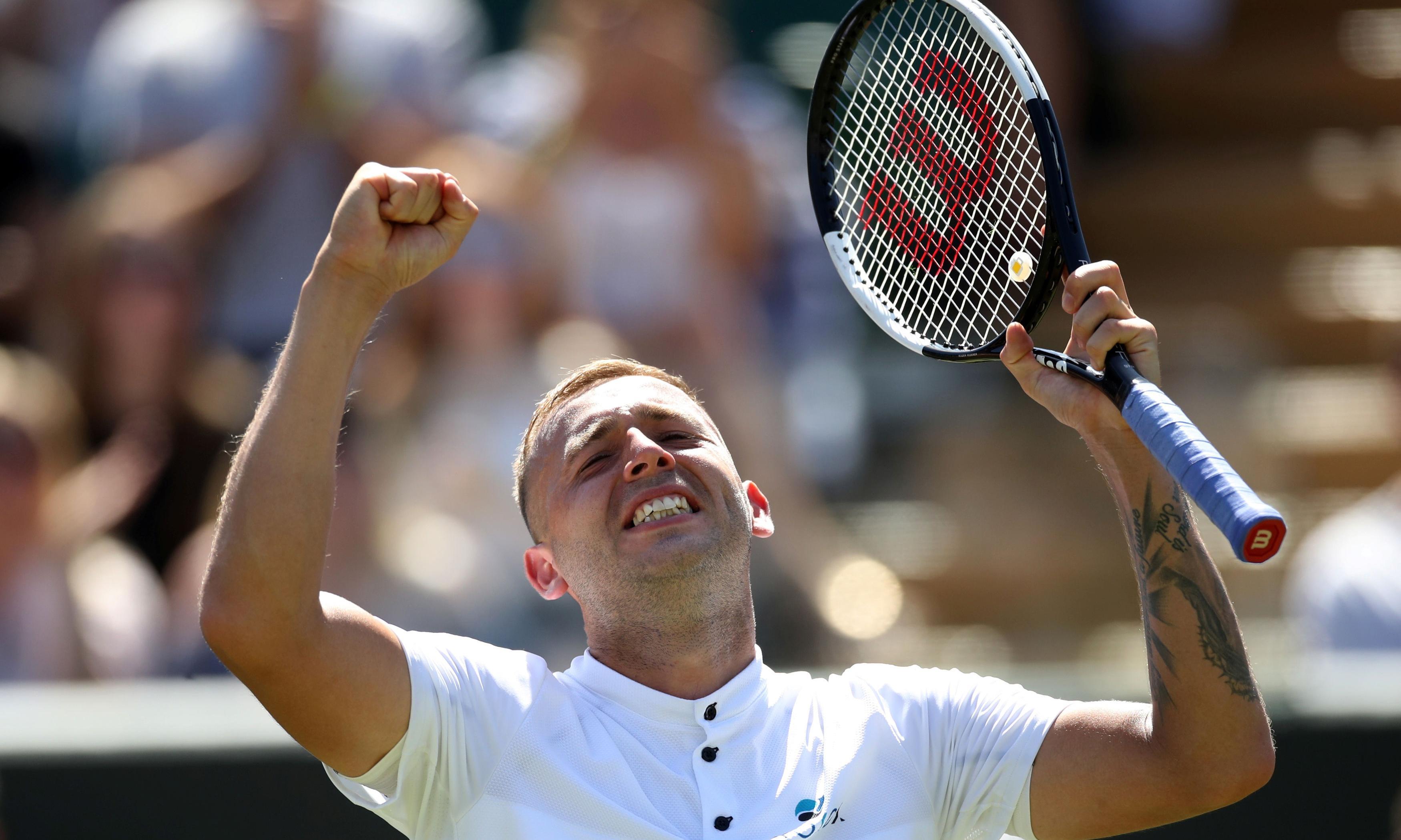 Emotional Dan Evans beats Basilashvili to reach Wimbledon third round