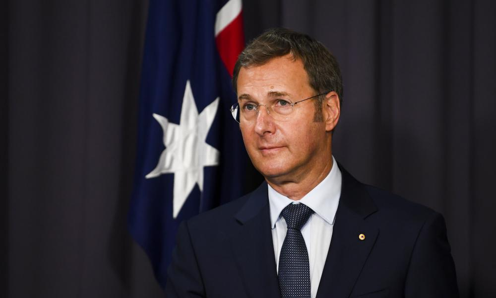 Michael Kidd speaks to the media during a press conference in Canberra last month.
