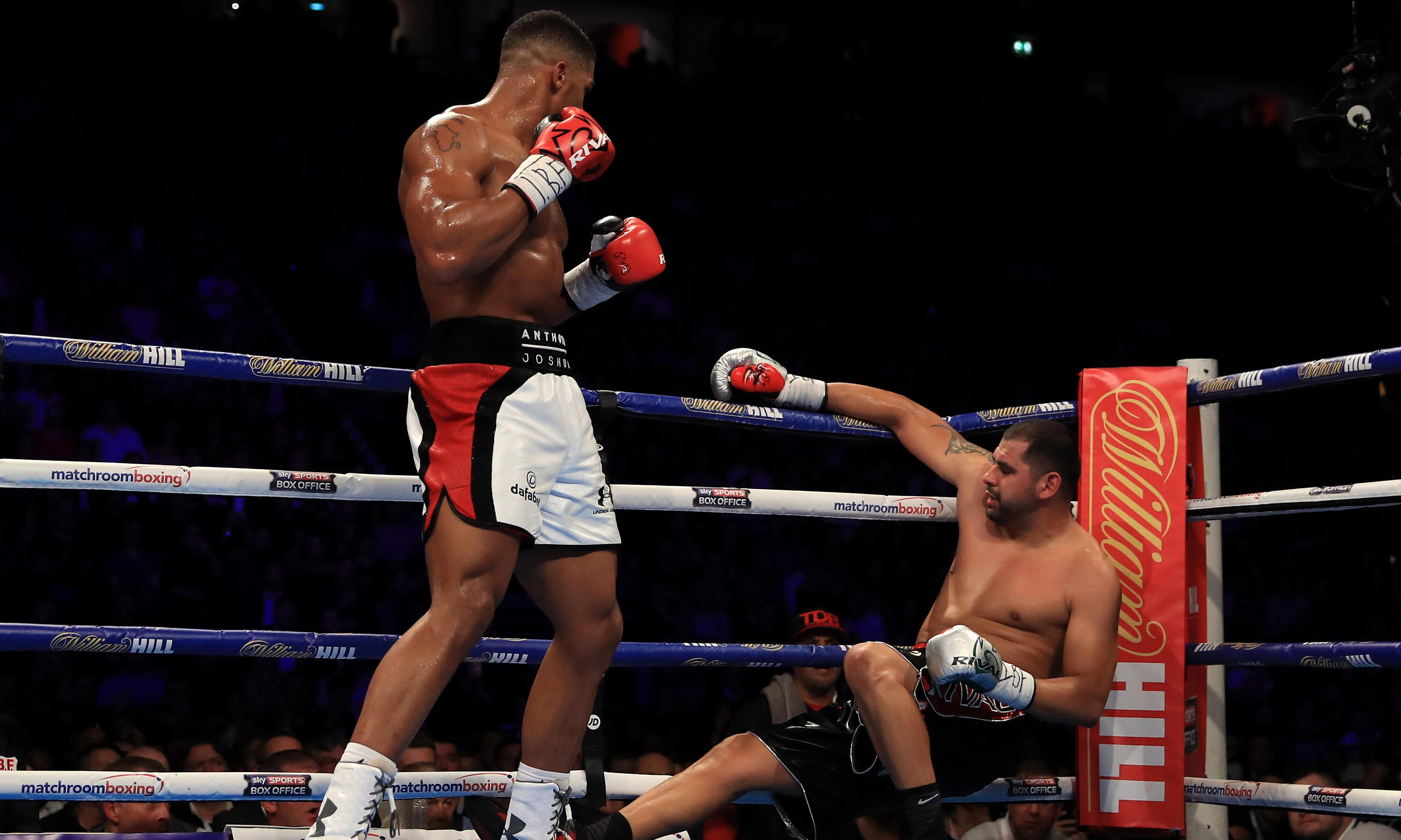 There's no turning back for Anthony Joshua now he is in the big league