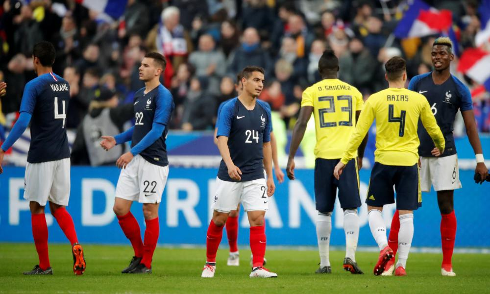 Wissam Ben Yedder, centre, made his debut for France against Colombia last month.