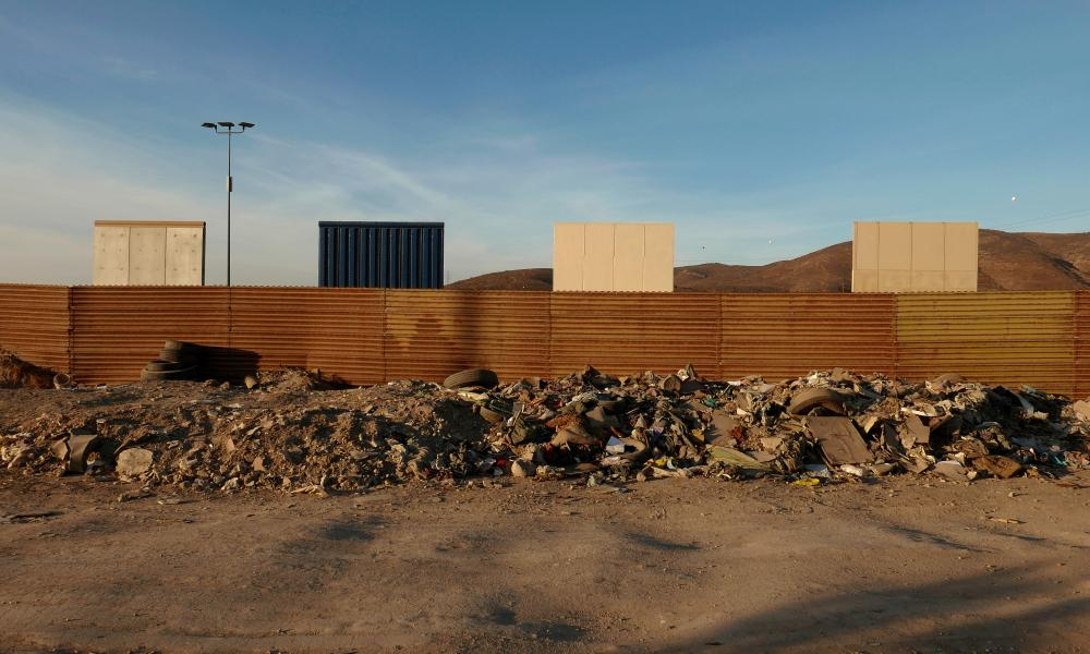 The border wall prototypes.