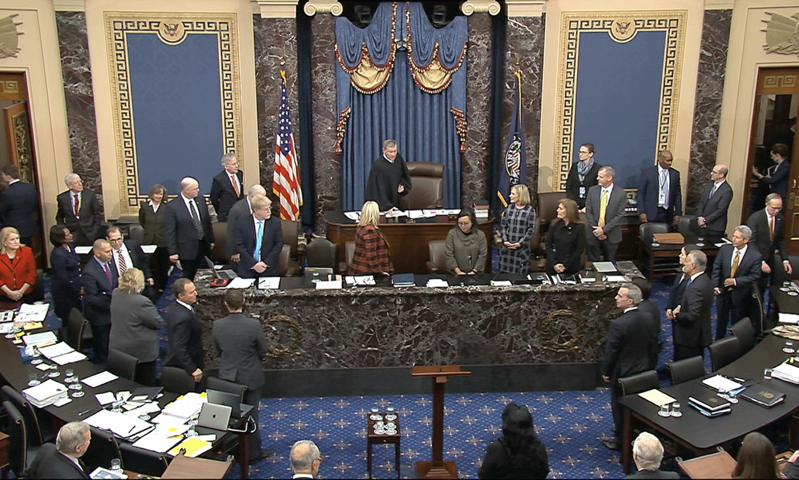 Democrats appeal to history, but senators struggle to sit through lesson