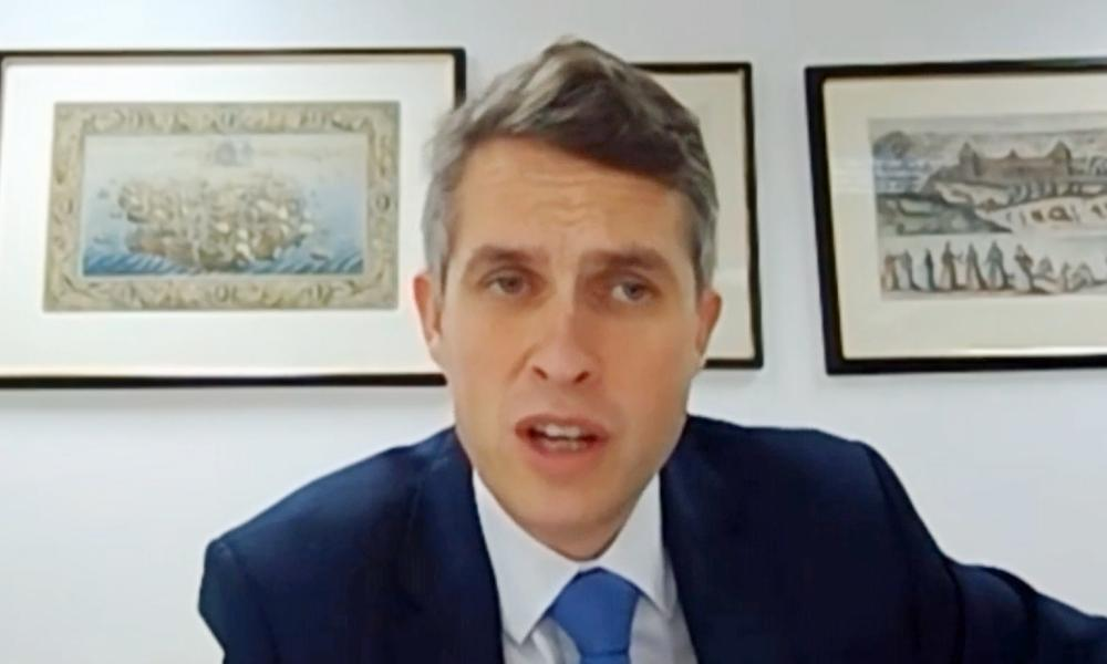 Gavin Williamson giving evidence to the Commons education committee by video link this morning.
