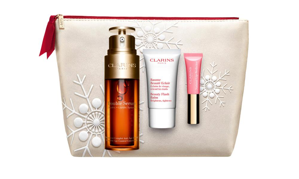 Clarins Double Serum skincare and makeup gift set, £70.20