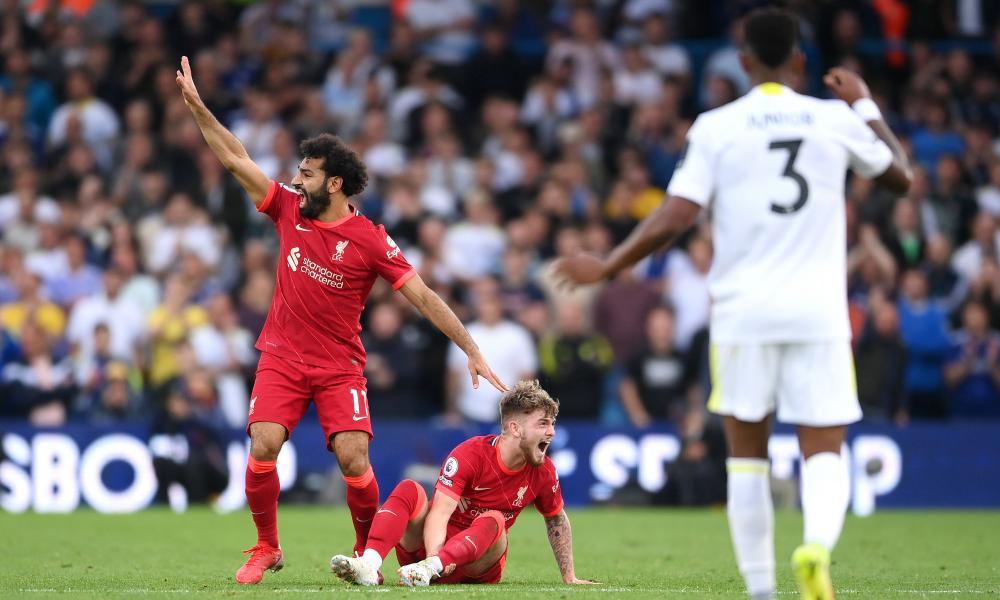 Mohamed Salah calls for medical attention for injured teammate Harvey Elliott