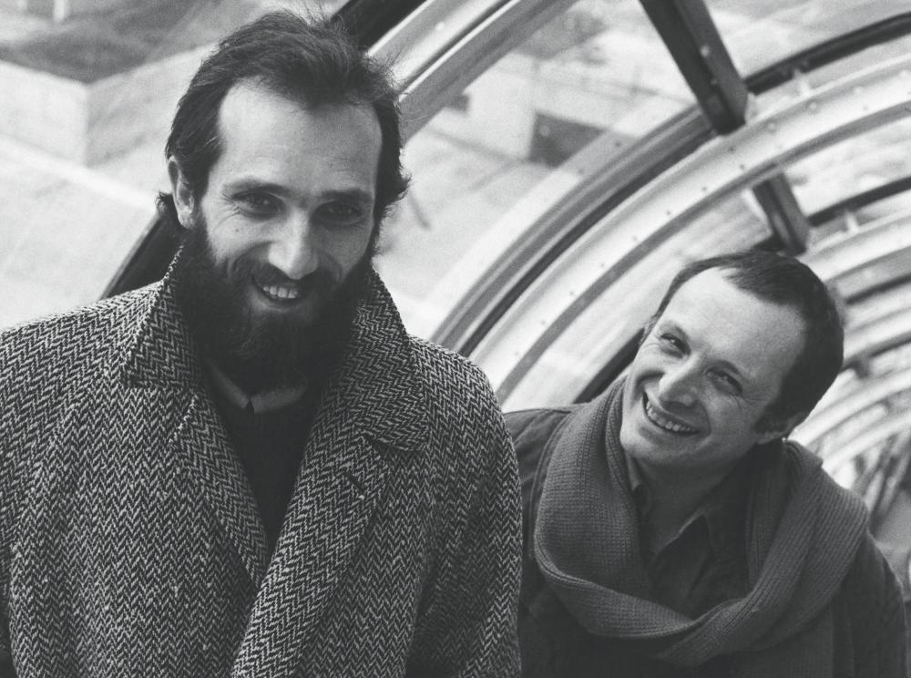Renzo Piano, left, and Richard Rogers in 1977