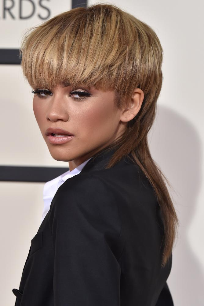 The 58th GRAMMY Awards LOS ANGELES, CA - FEBRUARY 15: Actress/singer Zendaya arrives at The 58th GRAMMY Awards at Staples Center on February 15, 2016 in Los Angeles, California.