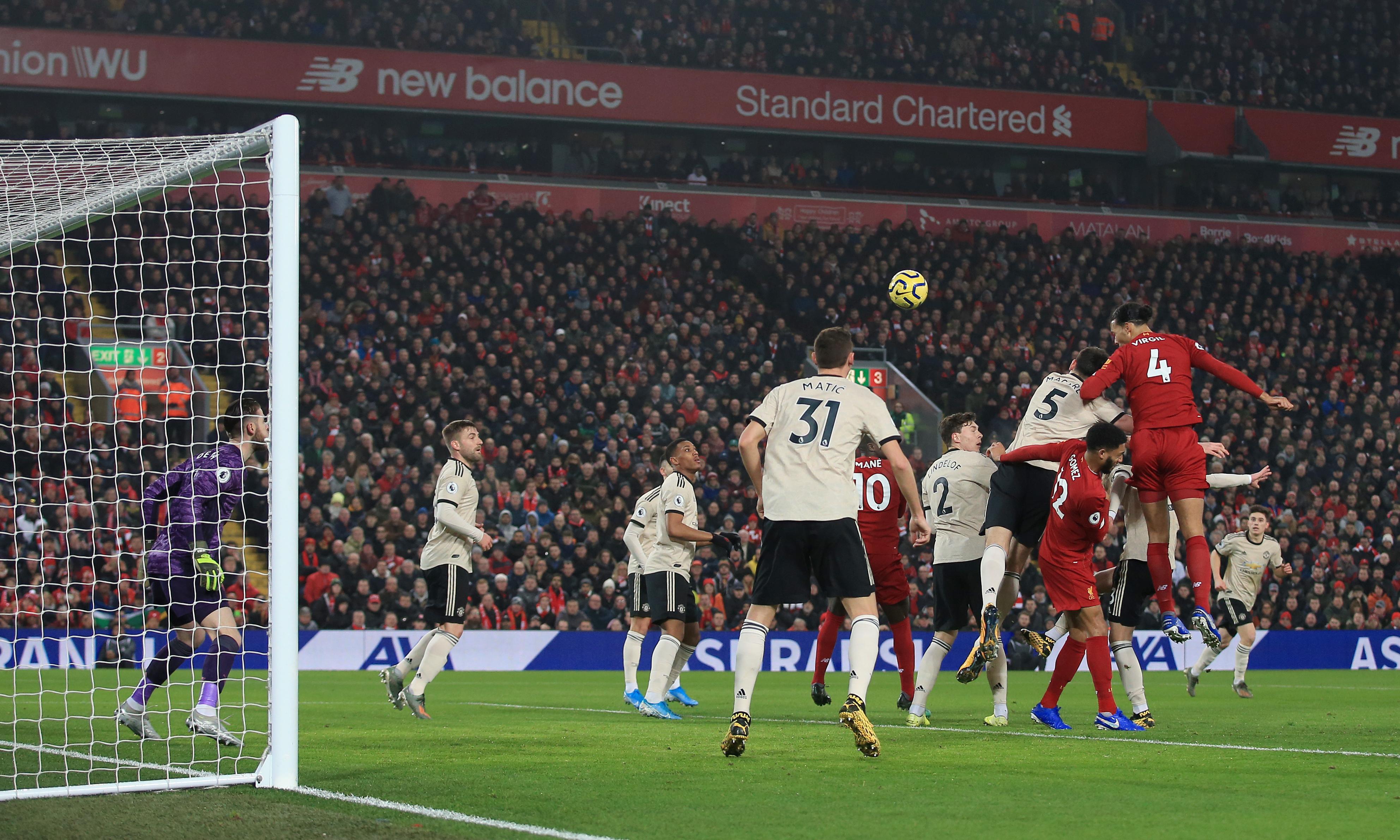 Van Dijk and Salah incisions help Liverpool tear open Manchester United