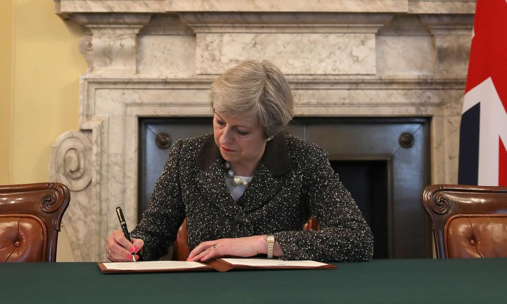 Image result for theresa may signing