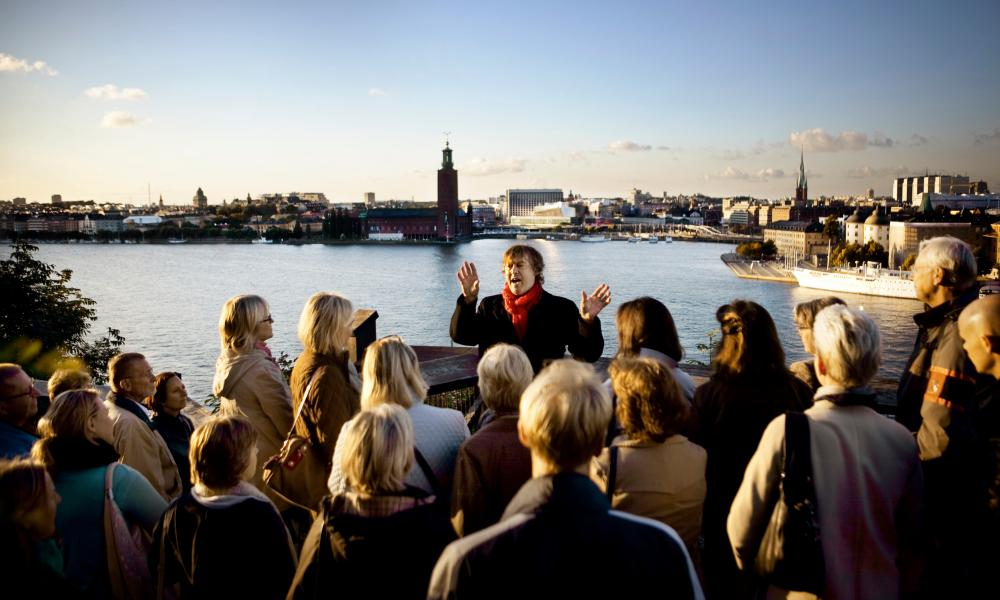 Guests on the Millennium tour. Stockholm, Sweden.
