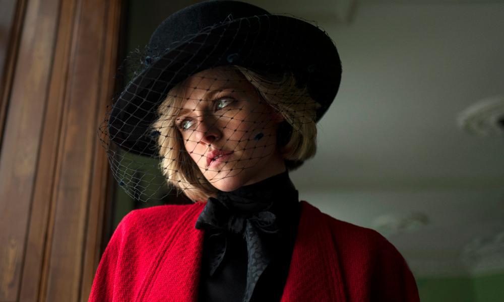 Kristen Stewart as Diana, Princess of Wales.