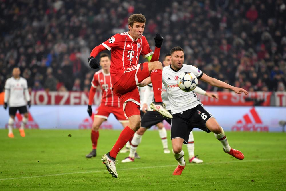 Thomas Muller jabs in the third.