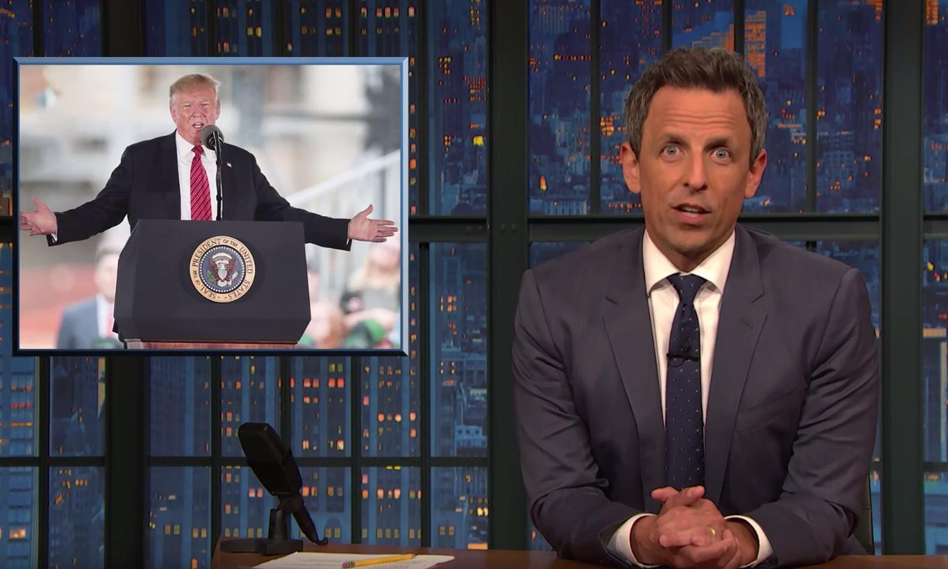 Seth Meyers on Trump: 'He always makes it obvious when he's lying'