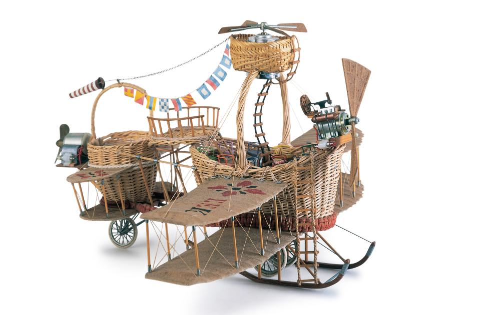 Flying Basket, 1983; model for The Mice and the Flying Basket, by Rodney Peppé.